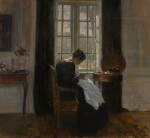 CARL HOLSØE | Sewing By the Window