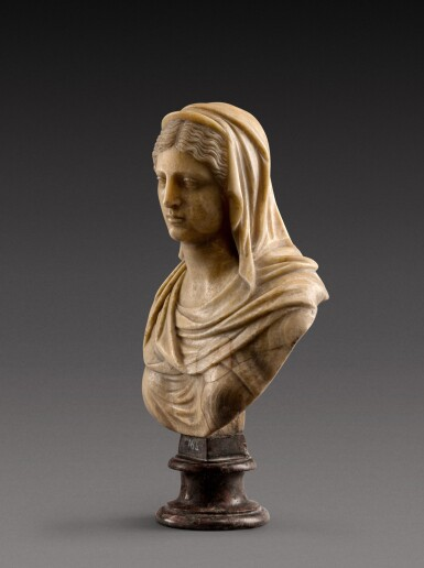View 2. Thumbnail of Lot 158. Italian, 18th century | Bust of a Vestal Virgin.
