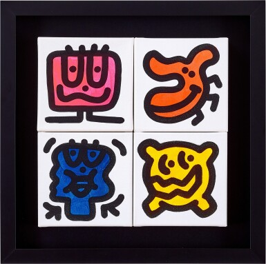 View 2. Thumbnail of Lot 6. Doodlings (Four Works)   塗鴉(四幅作品).