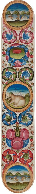 Ducks and a Bear in a large illuminated border [Italy (Brescia), 15th century (3rd quarter)]