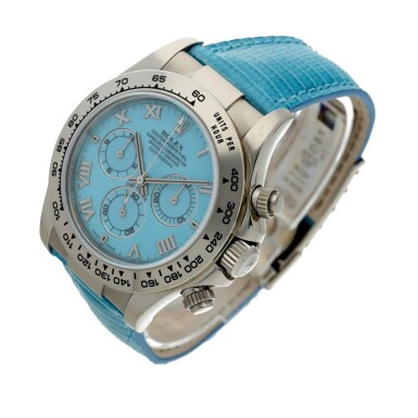 View 2. Thumbnail of Lot 4. Reference 116519 'Daytona Beach'  A white gold automatic chronograph wristwatch, Circa 2000.