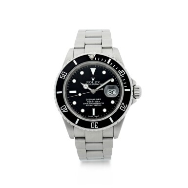 View 1. Thumbnail of Lot 304. ROLEX | REFERENCE 16610 SUBMARINER  A STAINLESS STEEL AUTOMATIC WRISTWATCH WITH DATE AND BRACELET, CIRCA 2002.
