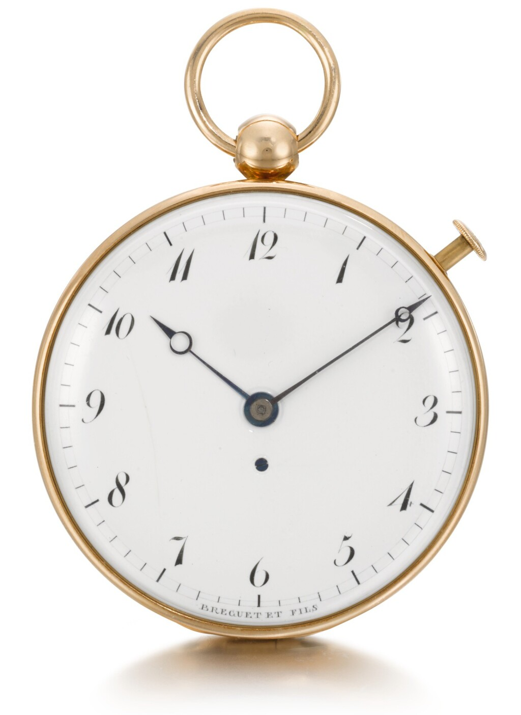 BREGUET | A GOLD OPEN-FACED DUMB QUARTER REPEATING WATCH  CIRCA 1806, NO. 1644