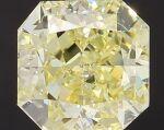 A 3.03 Carat Fancy Yellow Cut-Cornered Square Diamond, SI1 Clarity