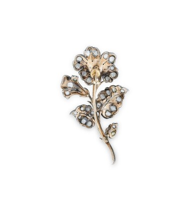 View 2. Thumbnail of Lot 1. BROCHE TREMBLEUSE DIAMANTS | DIAMOND BROOCH, 'EN TREMBLANT' .