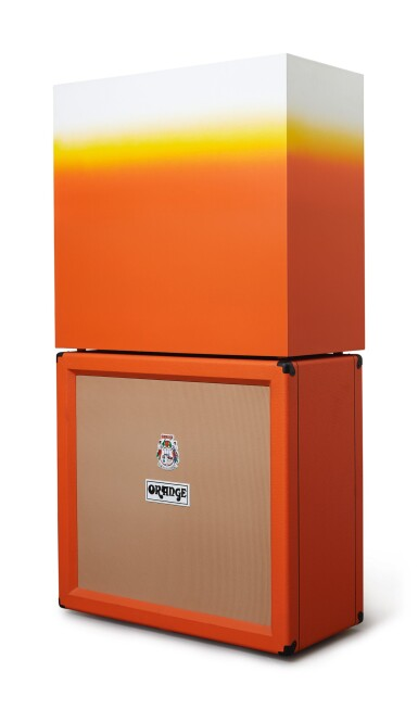 KAZ OSHIRO | ORANGE SPEAKER CABINET WITH BOX (ORANGE, YELLOW AND WHITE)