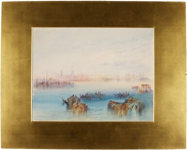 View 2. Thumbnail of Lot 212. Looking back on Venice from the Canale di San Marco to the East - After J.M.W. Turner, R.A..