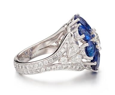 View 2. Thumbnail of Lot 1021. Diamond and Sapphire Ring | 格拉夫| 鑽石 配 藍寶石 戒指 (鑽石及藍寶石共重約2.10及6.20克拉).