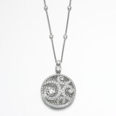 View 2. Thumbnail of Lot 138. Graff | Diamond 'Diamond on Diamond' necklace.