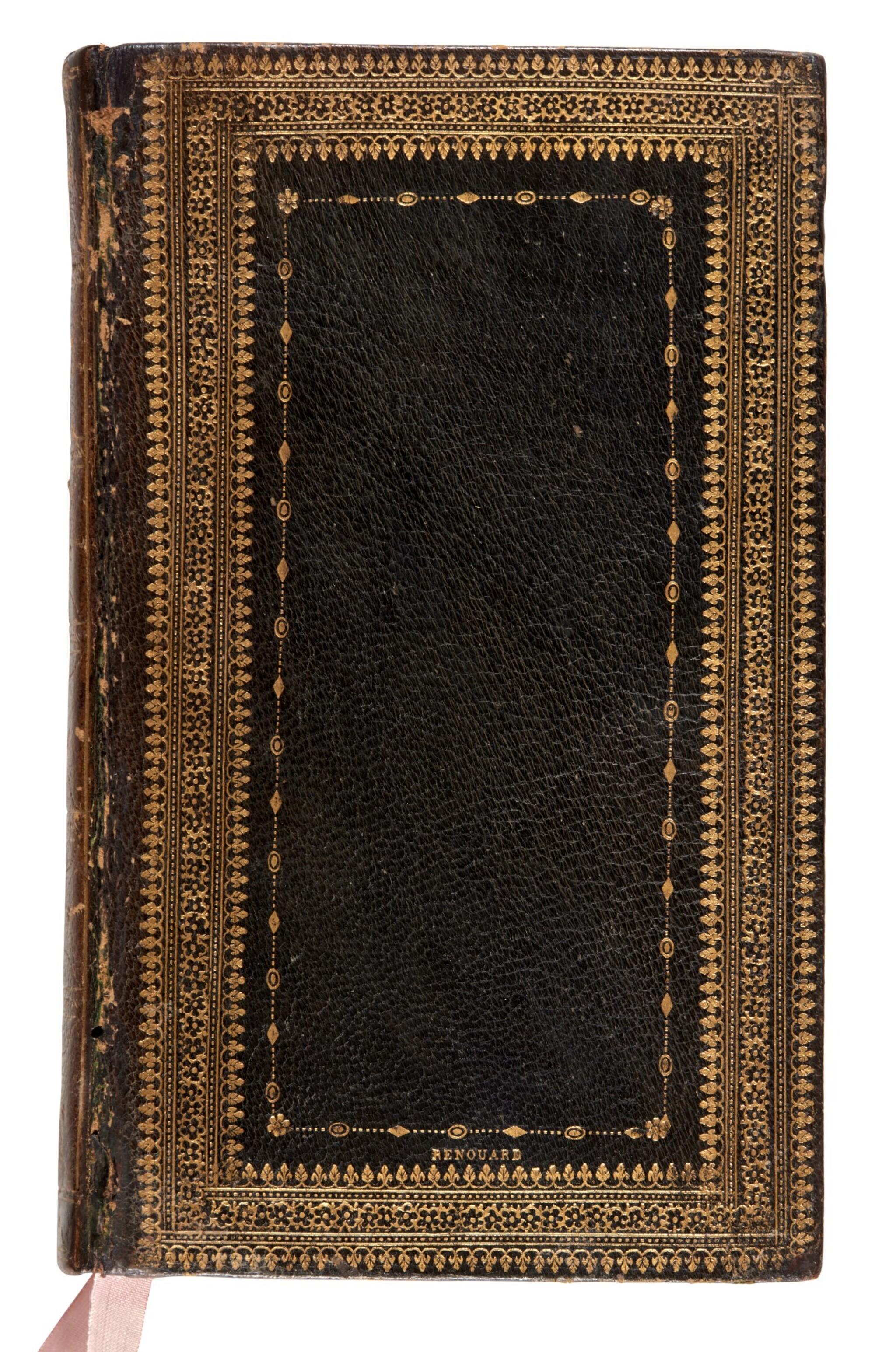 View full screen - View 1 of Lot 240. Statius, [Opera], Venice, Aldus, 1502, navy morocco gilt, Renouard's copy.