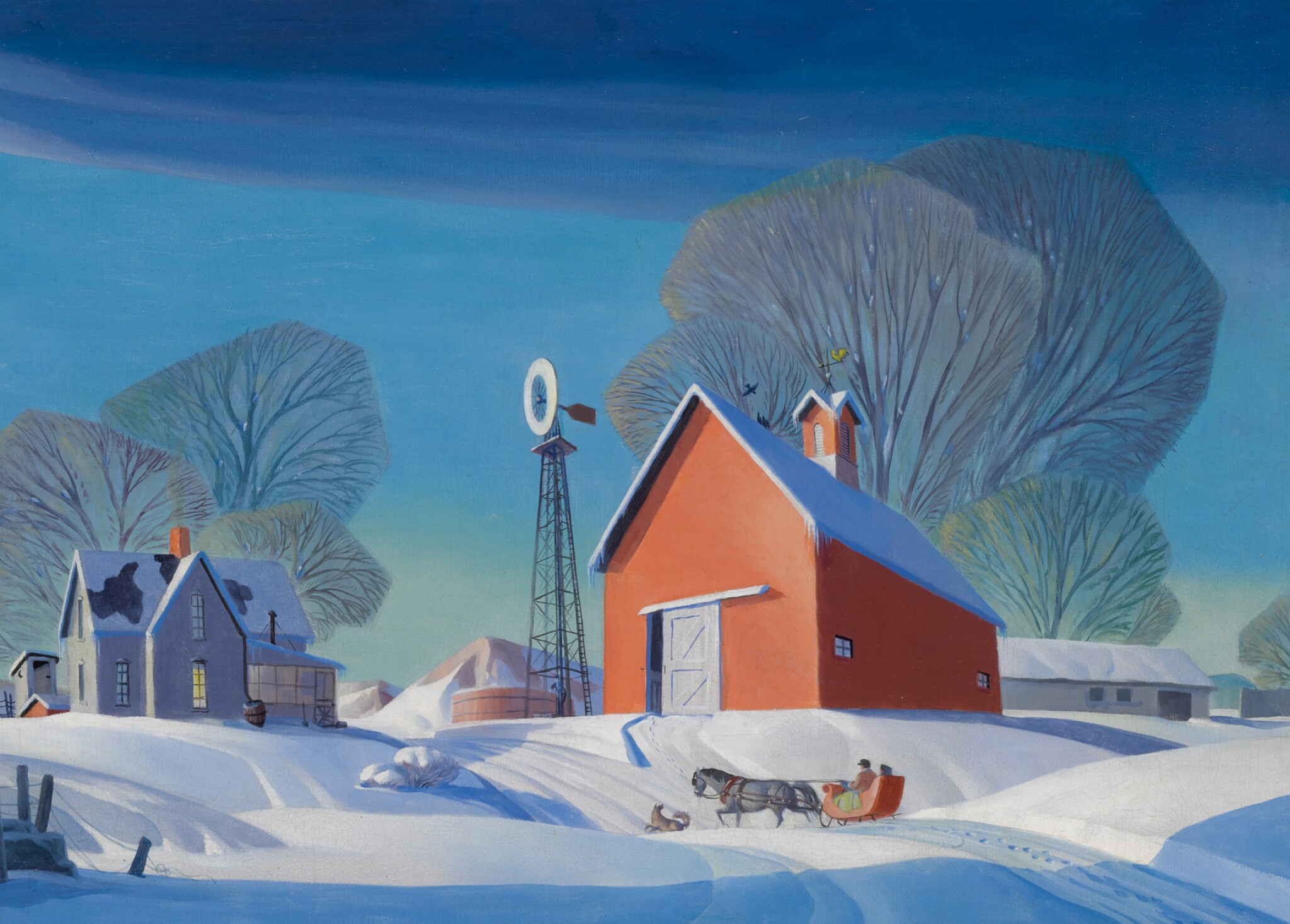 View full screen - View 1 of Lot 18. DALE WILLIAM NICHOLS | UNTITLED (WINTER ON THE FARM).