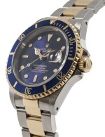 ROLEX | SUBMARINER, REF 16613 STAINLESS STEEL AND YELLOW GOLD WRISTWATCH WITH DATE AND BRACELET CIRCA 1991