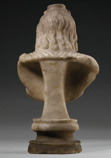 View 2. Thumbnail of Lot 31. A ROMAN MARBLE BUST OF SARAPIS, CIRCA 2ND CENTURY A.D..