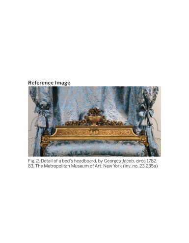 View 7. Thumbnail of Lot 147. A LOUIS XVI CARVED GILTWOOD LIT À LA ROMAINE, ATTRIBUTED TO GEORGES JACOB (1739-1814), CIRCA 1780.
