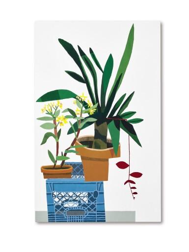 View 1. Thumbnail of Lot 1110. JONAS WOOD 喬納斯・伍德 | BLUE CRATE WITH STILL LIFE 藍板箱與靜物.
