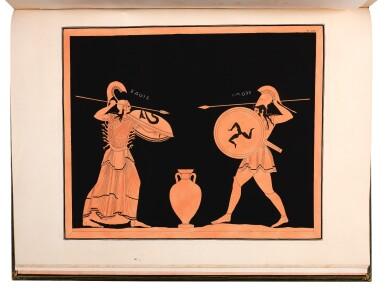 View 4. Thumbnail of Lot 48. Dubois Maisonneuve. Introduction à l'étude des vases antiques. 1817-[1834]. folio, green morocco by Selenka.