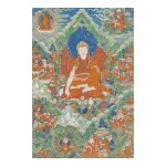 A THANGKA DEPICTING RENDAWA ZHONNU LODRO,  TIBET, CIRCA 1800