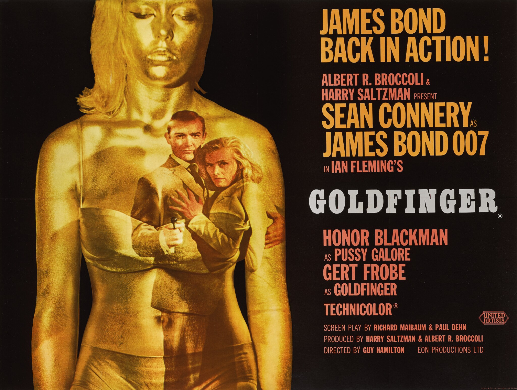 GOLDFINGER (1964) POSTER, BRITISH   Original Film Posters Online    Collectibles   Sotheby's