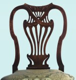A PAIR OF GEORGE II CARVED MAHOGANY SIDE CHAIRS, CIRCA 1740