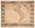 Wall maps | A set of four French wall maps of the continents, 1752