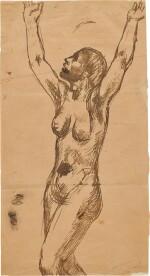 Femme nue invoquant le ciel