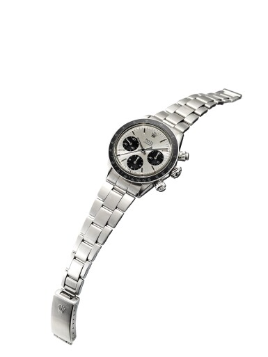 View 4. Thumbnail of Lot 163. ROLEX | COSMOGRAPH DAYTONA, REFERENCE 6263, A STAINLESS STEEL CHRONOGRAPH WRISTWATCH WITH SIGMA DIAL AND BRACELET, CIRCA 1972.