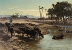 LÉON BELLY | BUFFALOES BATHING IN THE NILE