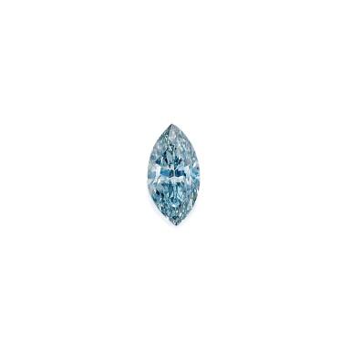 View 1. Thumbnail of Lot 485. FANCY GRAYISH BLUE DIAMOND RING   彩灰藍色鑽石戒指.