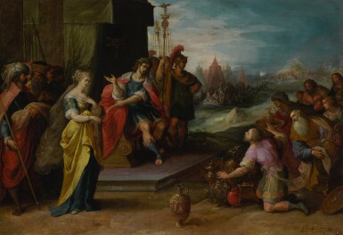 View 1. Thumbnail of Lot 594. The Continence of Scipio.