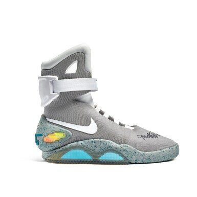 View 3. Thumbnail of Lot 1. Nike MAG 'Back to the Future' | 2011 | Dual Signed by Michael J. Fox.