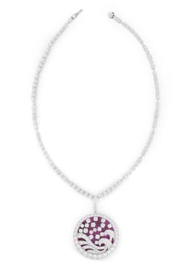GRAFF | COLLIER-PENDENTIF RUBIS ET DIAMANTS  | RUBY AND DIAMOND PENDANT-NECKLACE