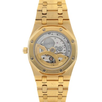 View 4. Thumbnail of Lot 375. ROYAL OAK JUBILEE, REF 14802BA.OO.0944BA.01 LIMITED EDITION YELLOW GOLD WRISTWATCH WITH DATE AND BRACELET CIRCA 1992.