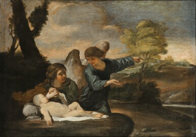 WORKSHOP OF ANDREA SACCHI | The angel appearing to Hagar and Ishmael