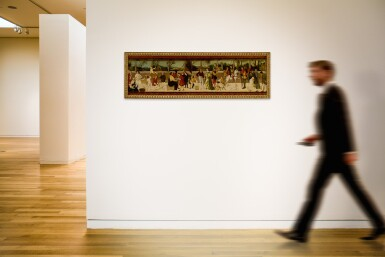 View 4. Thumbnail of Lot 564. The Seven Ages of Man, a cassone panel.