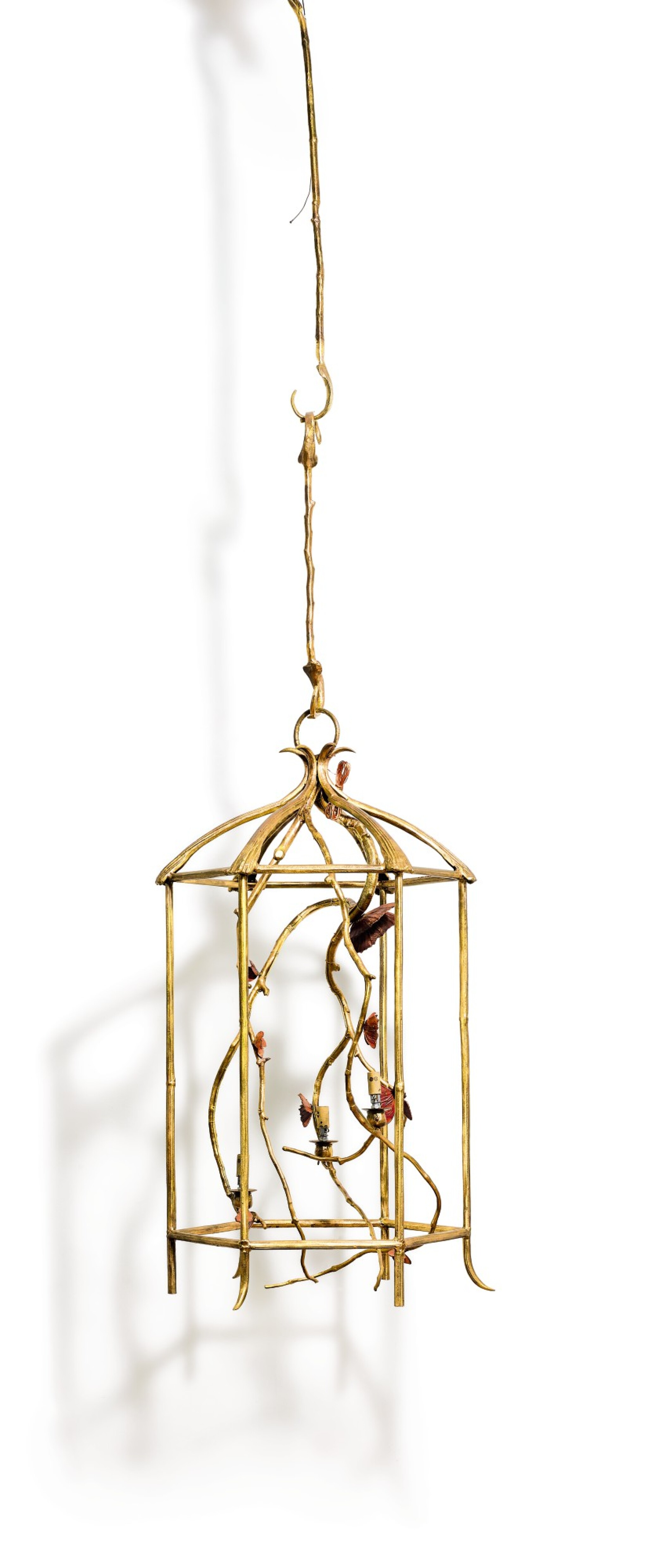 View full screen - View 1 of Lot 544. CLAUDE LALANNE 克洛德·萊蘭 | LANTERN WITH BUTTERFLIES 蝴蝶吊燈.
