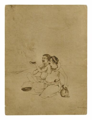 View 1. Thumbnail of Lot 1801. NANDALAL BOSE | JAGAI-MADHAI.