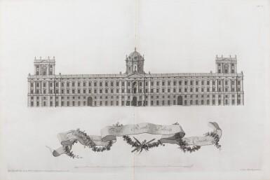 View 3. Thumbnail of Lot 65. Dichiarazione dei Disegni del reale Palazzo di Caserta. Naples, 1756. In-folio. Reliure de l'époque..