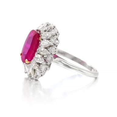 View 4. Thumbnail of Lot 663. Ruby and diamond ring | 紅寶石配鑽石戒指.