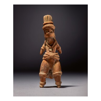OLMEC FIGURE OF A BALLPLAYER, TLATILCO REGION EARLY PRECLASSIC, CIRCA 1200-900 BC