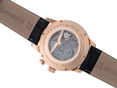 VULCAIN | HERBIE HANCOCK, REF 160551302 LIMITED EDITION PINK GOLD ALARM WRISTWATCH WITH DATE CIRCA 2012