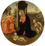 THE PSEUDO-GRANACCI, POSSIBLY IDENTIFIABLE AS POGGIO POGGINI | THE HOLY FAMILY WITH THE INFANT SAINT JOHN THE BAPTIST IN A LANDSCAPE