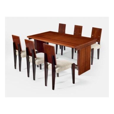 ANDRÉ SORNAY | DINING TABLE AND SIX CHAIRS