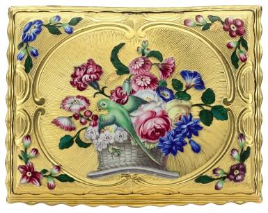 View 2. Thumbnail of Lot 13. A gold and enamel snuff box, James Bellis, London, circa 1765.