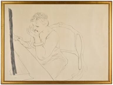 View 2. Thumbnail of Lot 145. DAVID HOCKNEY, R.A.    CELIA ADJUSTING HER EYELASH (GEMINI 837).