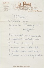 GEORGIA O'KEEFFE | THE ARTIST'S RECIPE CARD FILE. CIRCA 1950S–1970S