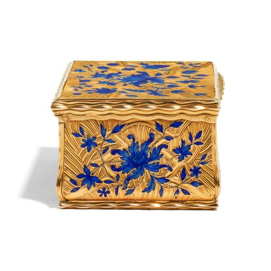 View 3. Thumbnail of Lot 14. A gold and enamel snuff box, Anders Liedberg, Stockholm, circa 1763.