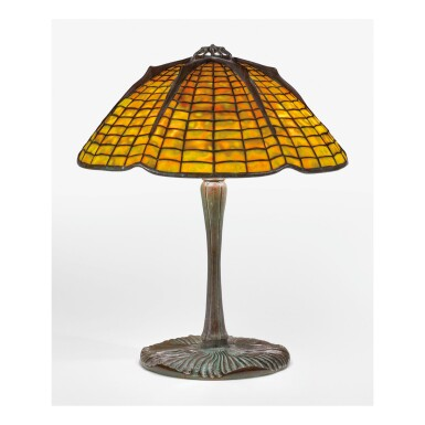 "View 1. Thumbnail of Lot 3. TIFFANY STUDIOS | ""SPIDER"" TABLE LAMP."