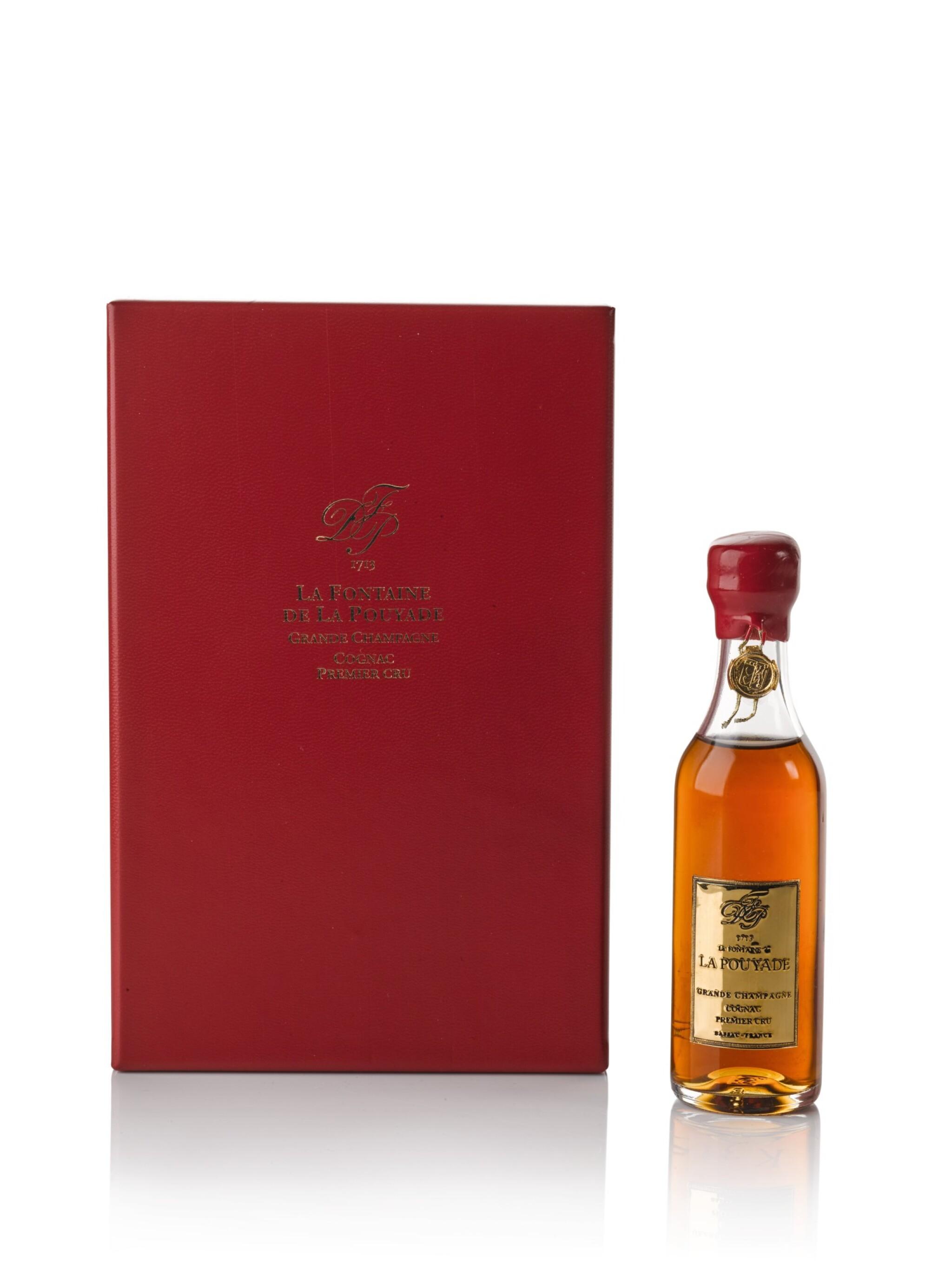 View full screen - View 1 of Lot 110. La Fontaine De La Pouyade Grand Champagne Premier Cru Cognac Miniature K315 40.0 abv NV .