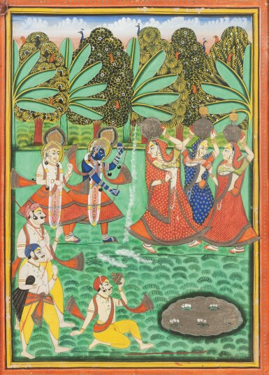 View 7. Thumbnail of Lot 69. RAJASTHAN, LATE 18TH CENTURY AND 19TH CENTURY | SEVEN INDIAN MINIATURES.