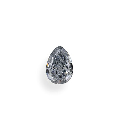 A 1.02 Carat Fancy Blue Pear-Shaped Diamond, SI2 Clarity